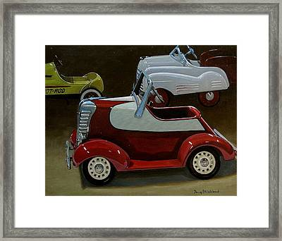 Toy Pedal Cars Framed Print by Doug Strickland