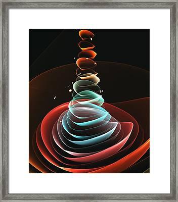 Framed Print featuring the digital art Toy Pyramid by Anastasiya Malakhova