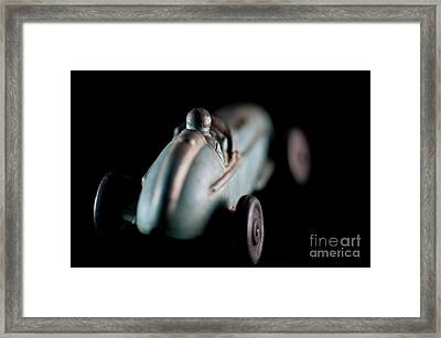 Toy Race Car Framed Print by Wilma Birdwell