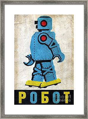 Toy Robot Russia Framed Print