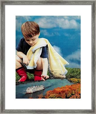 Toy Ship Framed Print by Veronika Berry