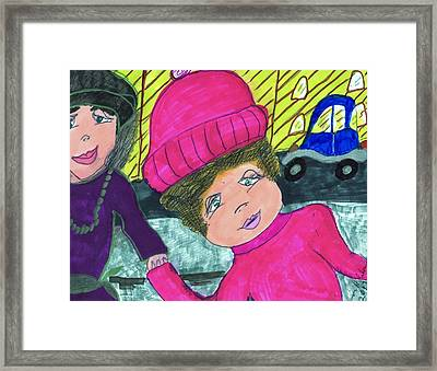 Toy Shopping Tired Mom Framed Print