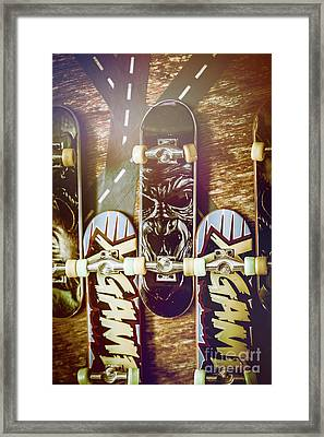 Toy Skateboards Framed Print