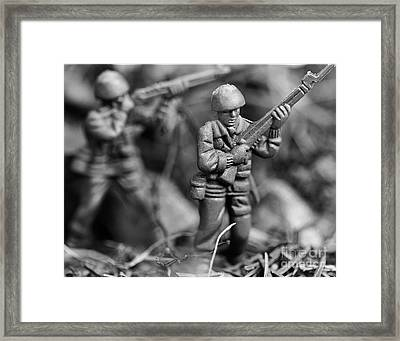 Toy Soldiers Framed Print by Randy Steele