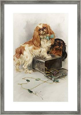 Toy Spaniels Framed Print by Arthur Wardle