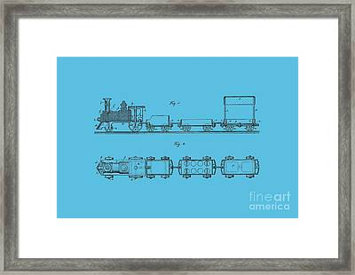 Toy Train Tee Framed Print by Edward Fielding
