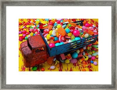 Toy Truck Full Of Candy Framed Print by Garry Gay