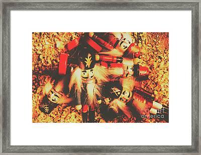 Toy Workshop Soldiers Framed Print