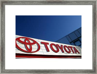 Toyota 8 Framed Print by Jez C Self
