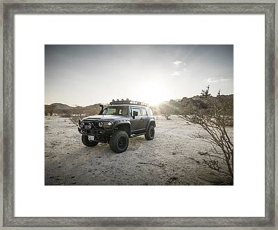 Toyota Fj Cruiser In Saudi Arabia Framed Print