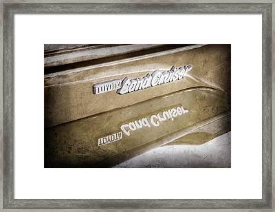 Toyota Land Cruiser Emblem  -0584ac Framed Print by Jill Reger