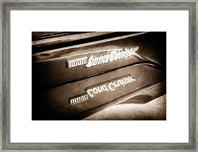 Toyota Land Cruiser Emblem  -0584s Framed Print by Jill Reger