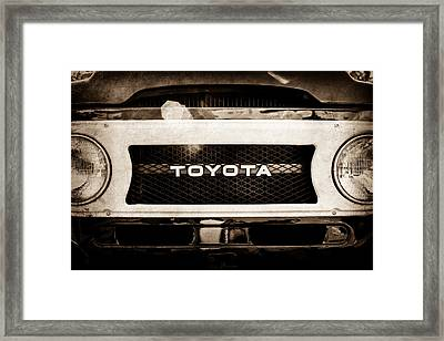 Toyota Land Cruiser Grille Emblem  -0589s Framed Print by Jill Reger