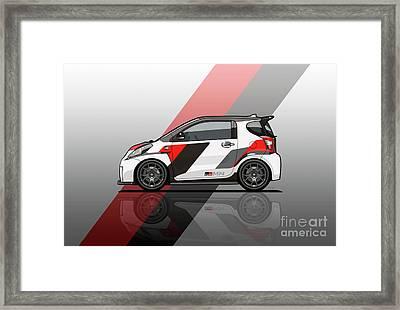 Toyota Scion Grmn Iq Racing Concept Framed Print