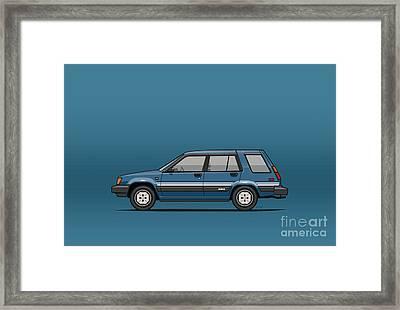 Toyota Tercel Sr5 4wd Wagon Al25 Blue Framed Print