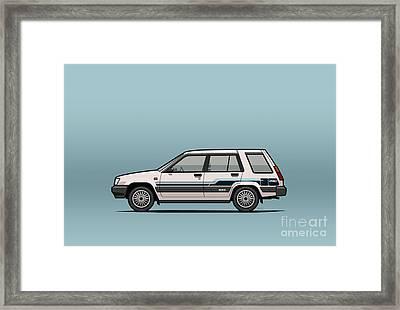 Toyota Tercel Sr5 4wd Wagon Al25 White Framed Print