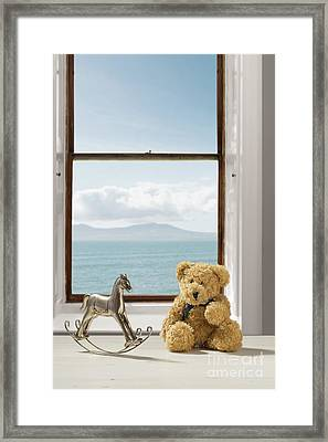Toys Overlooking The Ocean Framed Print by Amanda Elwell