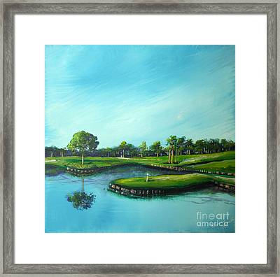 Tpc 17th Hole 2010 Framed Print by Michele Hollister - for Nancy Asbell