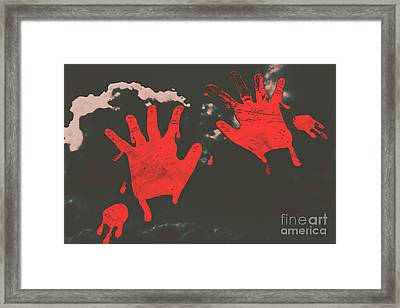 Trace Of A Serial Killer Framed Print by Jorgo Photography - Wall Art Gallery