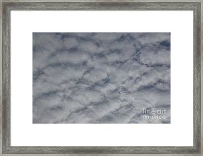 Trace Of Airplane Framed Print by Jean Bernard Roussilhe
