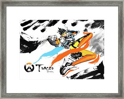 Tracer Overwatch Framed Print by Haze Long