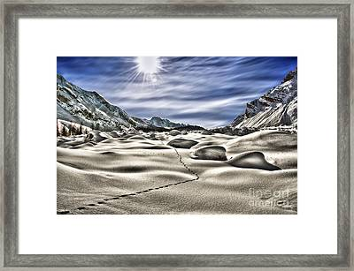 Traces Framed Print by Alessandro Giorgi Art Photography