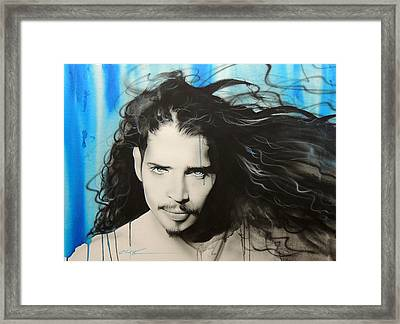 Chris Cornell - ' Track 12 ' Framed Print by Christian Chapman Art