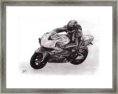 Track Day Framed Print by James Bradley