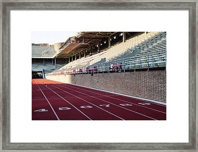 Track - Franklin Field - Upenn Framed Print by Bill Cannon