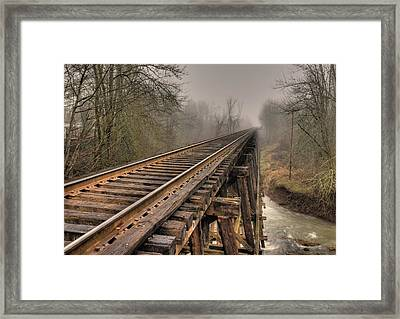 Track To Some Where Framed Print by Peter Schumacher