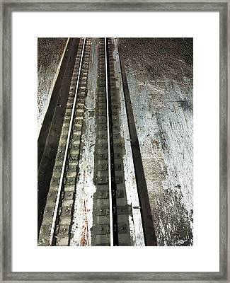 Track Framed Print by Tony Rubino