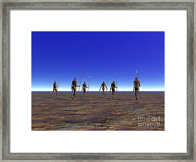 Trackers Framed Print