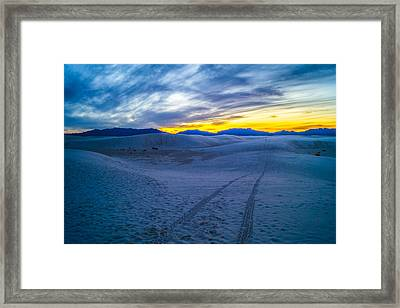 Tracking A White Sands Sunset Framed Print