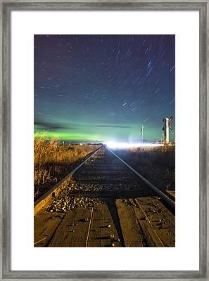 Tracking Aurora Framed Print