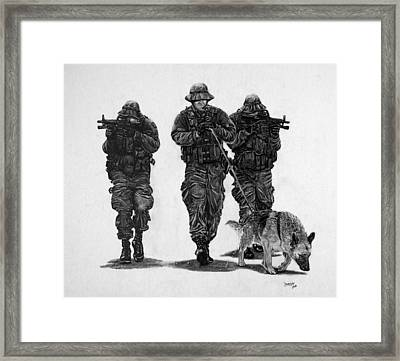 Tracking To Contact Framed Print