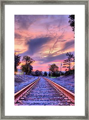 Tracking Towards A Cure Framed Print by JC Findley