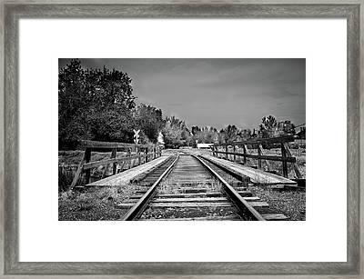 Tracks 2 Framed Print by Matthew Angelo