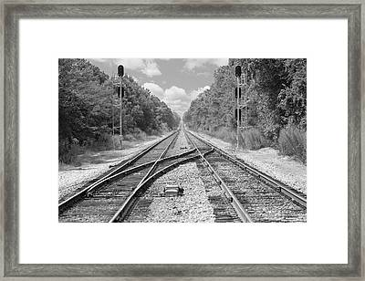 Framed Print featuring the photograph Tracks 2 by Mike McGlothlen