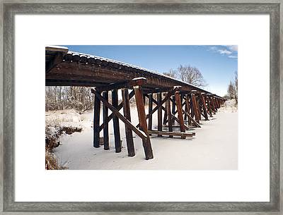 Tracks After The Snow Storm Framed Print by James Steele