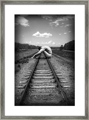 Tracks Framed Print by Chance Manart