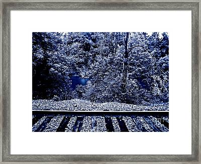 Tracks Framed Print by Gwyn Newcombe