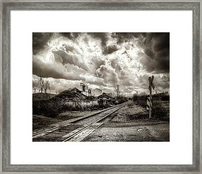 Tracks Into Logan Framed Print