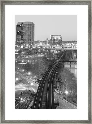 Tracks Into The City Framed Print