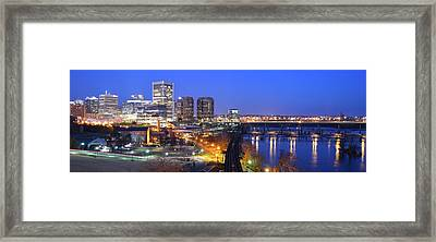 Tracks Into The City Wide Angle Framed Print