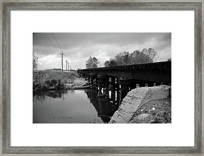 Tracks Framed Print by Matthew Angelo