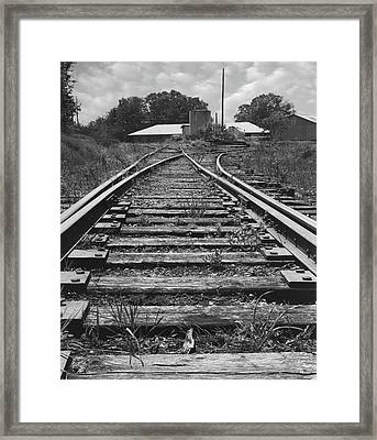 Framed Print featuring the photograph Tracks by Mike McGlothlen