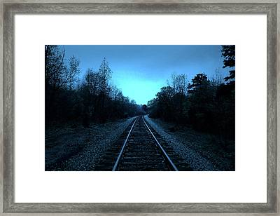 Tracks Of Dawn Framed Print by Nina Fosdick