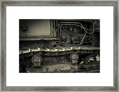 Tracks Of The Warped Earth Mover Framed Print by John Williams