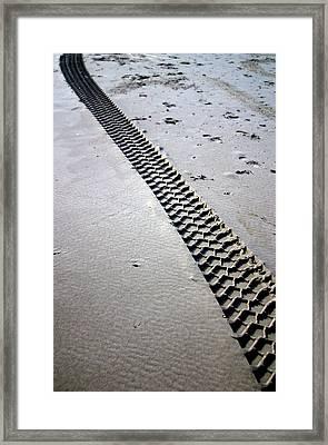 Tracks Of Today Framed Print by Jez C Self