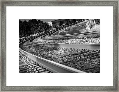 Tracks Through Historic Buford Framed Print